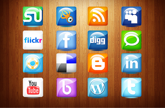 free social media icons for web and printing