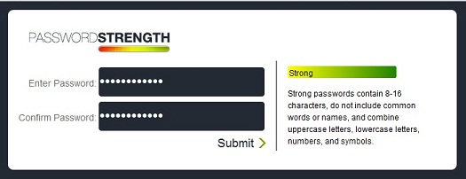 jQuery strong password plugin