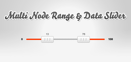 multi node range and data slider: jQSlider
