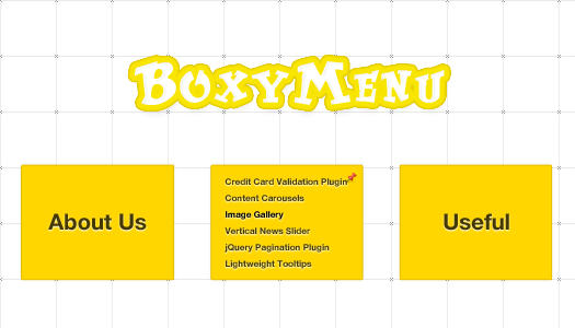 Fast and Simple Links Box Navigation Menu BoxyMenu