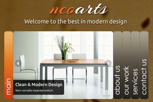 Free HTML5 Portfolio / Business Template: Neoarts