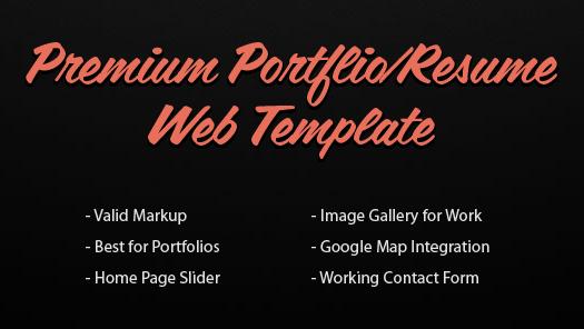premium-portfolio-resume-html-template