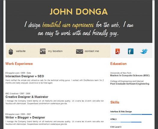 preview-resume-wordpress-theme