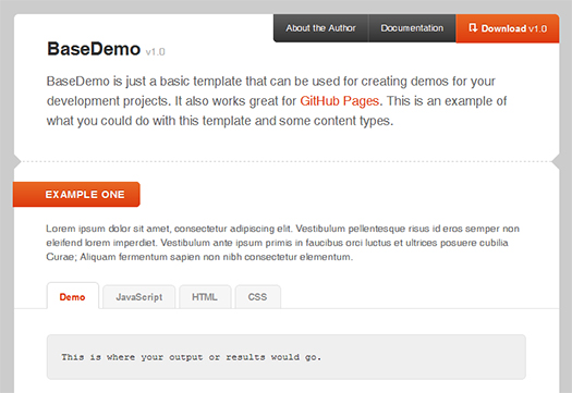 Basic-Template-For-Creating-Demos-For-Your-Development-Projects