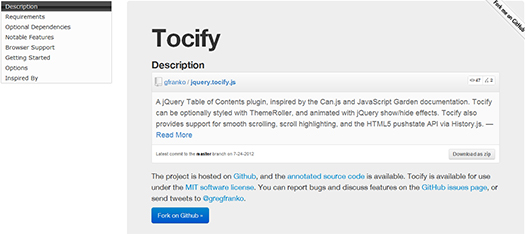 jQuery-Table-of-Contents-Plugin-Tocify