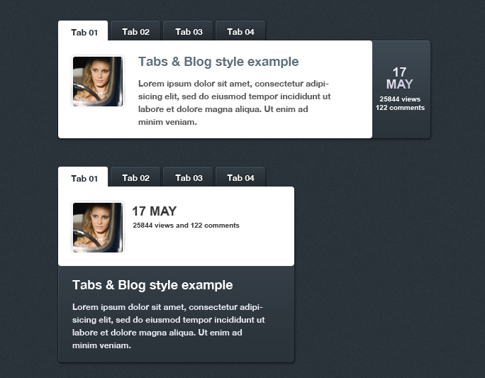jQuery Tabbed News and Content Slider Plugin