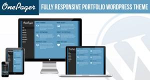 Free Responsive Portfolio WordPress Theme: One Pager