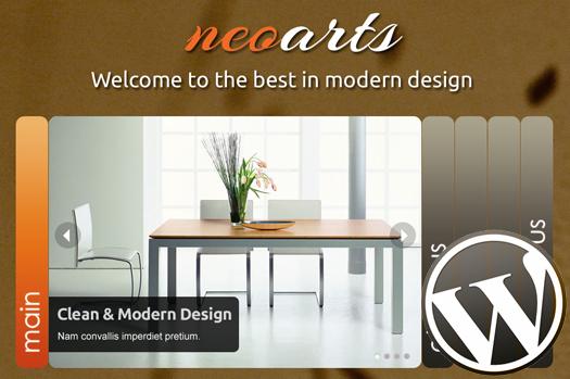 Single page business/portfolio wordpress theme: NeoArtsWP