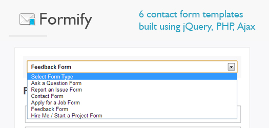 Open Source jQuery PHP Ajax Contact Form Templates With CaptchaFormify