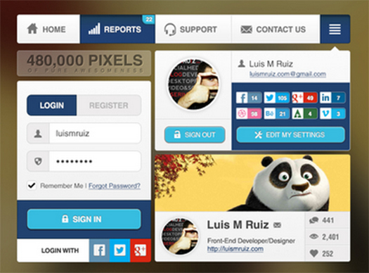 Awesomeness-UI-Widgets-Free-PSD