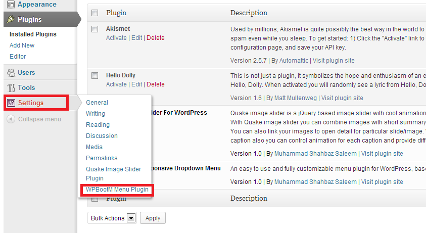 installing WordPress Plugin Step 3