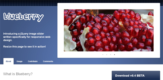 Open Source jQuery Image Slider - Blueberry
