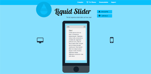 Responsive Content Slider - Liquid Slider