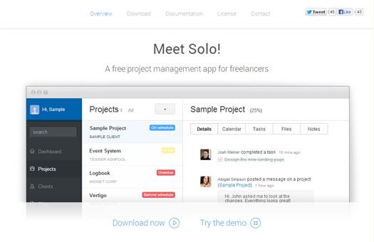 A Free Project Management Application for Freelancers - Solo
