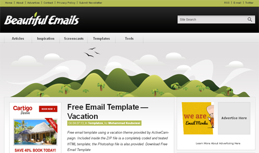 Free Email Template-Vacation