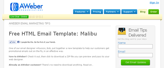 Free HTML Email Template [Free Download] Malibu