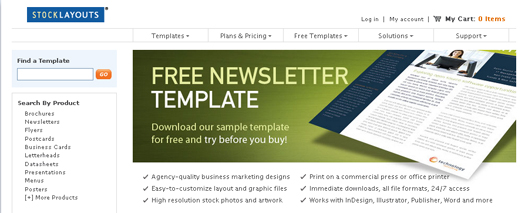 100 html newsletter open for Newsletter layout templates free download