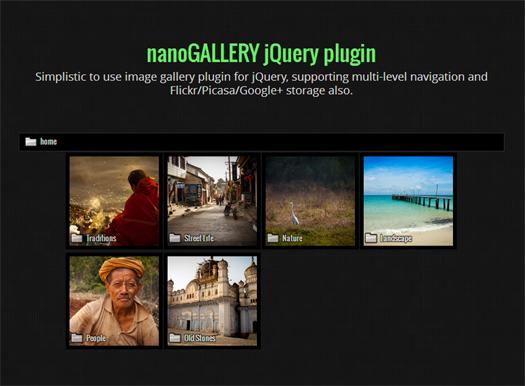 nanoGALLERY jQuery Image Gallery Plugin