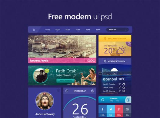 Free Modern UI PSD