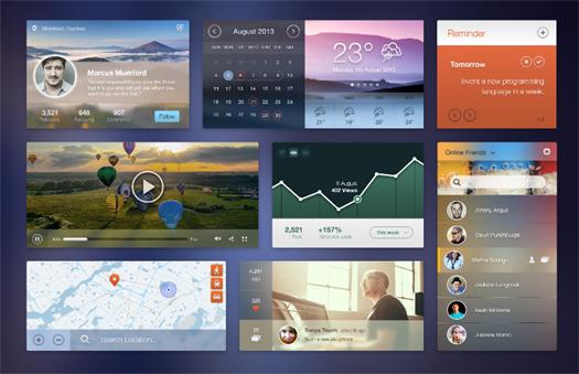 UI Kit [Free PSD] by Pele Chaengsavang