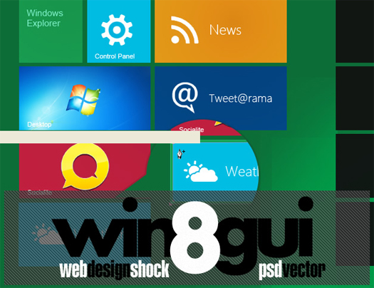 Windows 8 GUI PSD