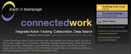 Integrated Action Tracking & Collaboration - Traction TeamPage