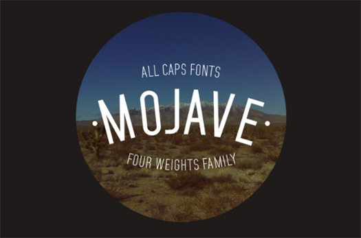 Mojave Typeface for Headlines, Posters and Titles