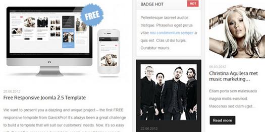 Music Free - Responsive Free Joomla Template