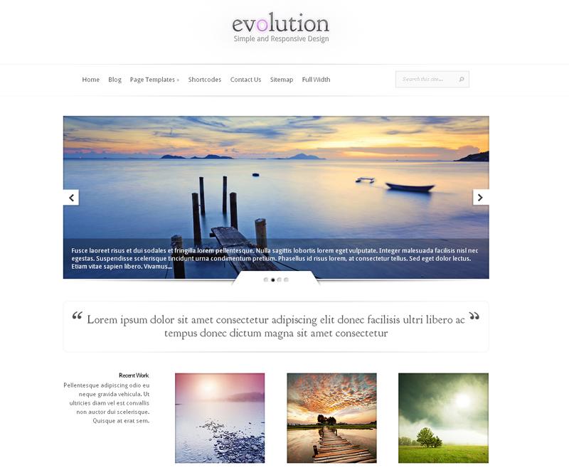 Evolution Responsive WordPress Theme