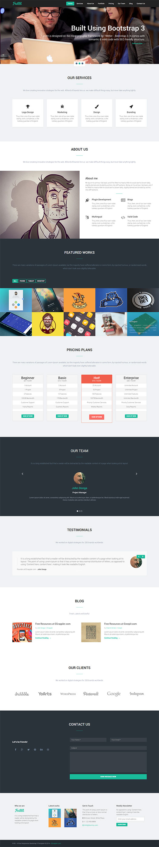 free-single-page-responsive-bs3-template
