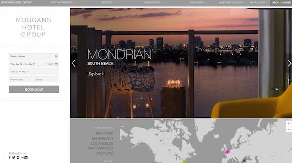 30 creative hotel website designs for inspiration egrappler for Hotel web design