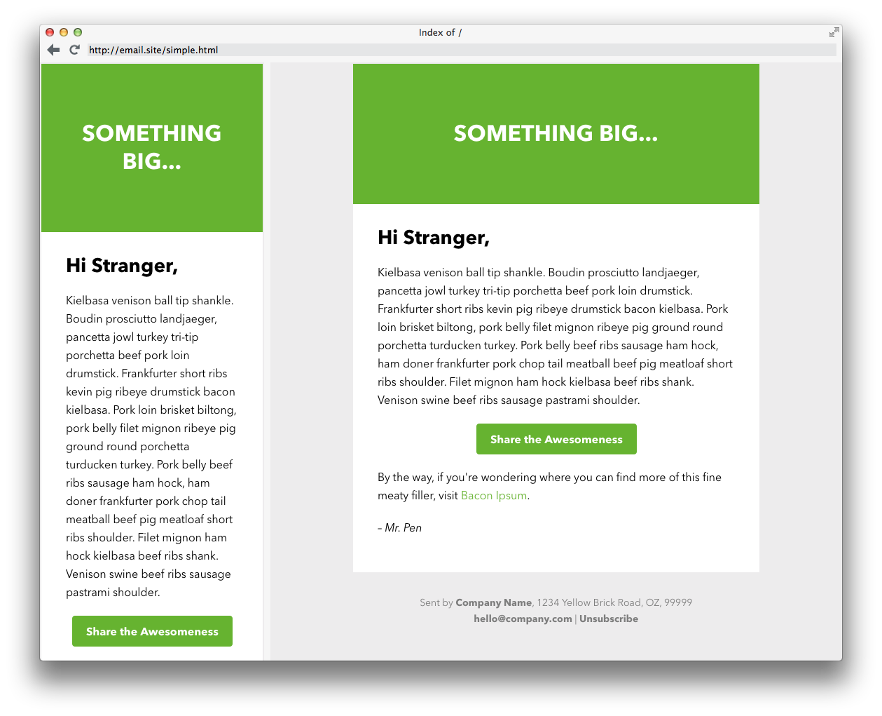 Free Responsive Email Templates EGrappler XrQenvx9