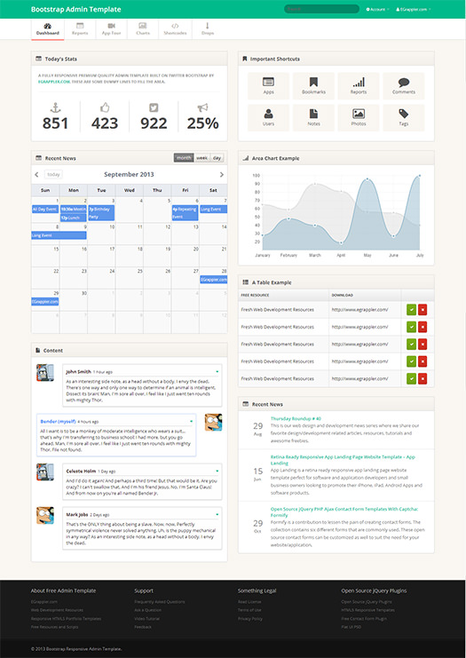 TemplateVamp Template Dashboard