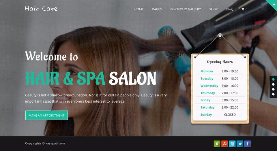 Hair Care Theme
