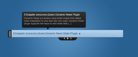 Rss Driven Dynamic jQuery News Slider Plugin