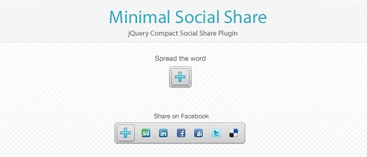 jQuery minimal social media share plugin