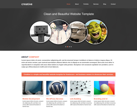 Free portfolio and enterprise web site psd template for Free portfolio website templates